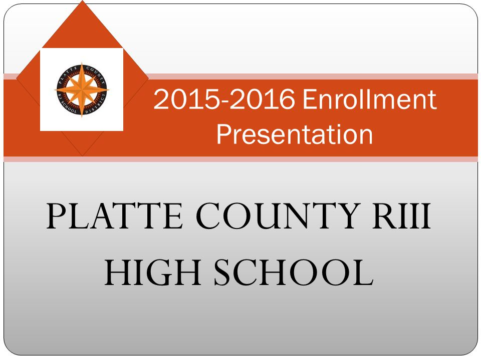 2015-2016 Enrollment Presentation