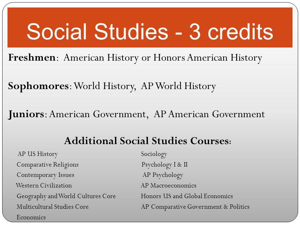 Social Studies - 3 credits