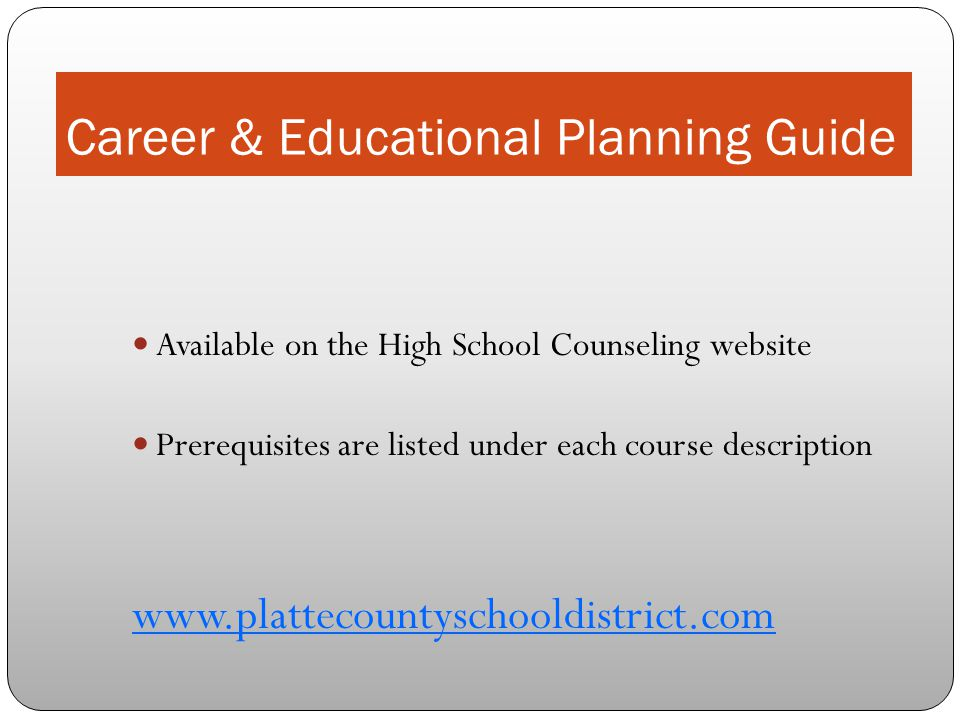 Career & Educational Planning Guide