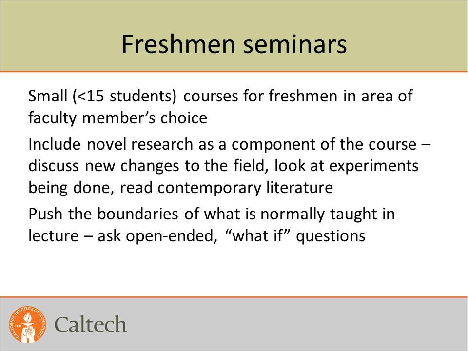 Freshmen seminars