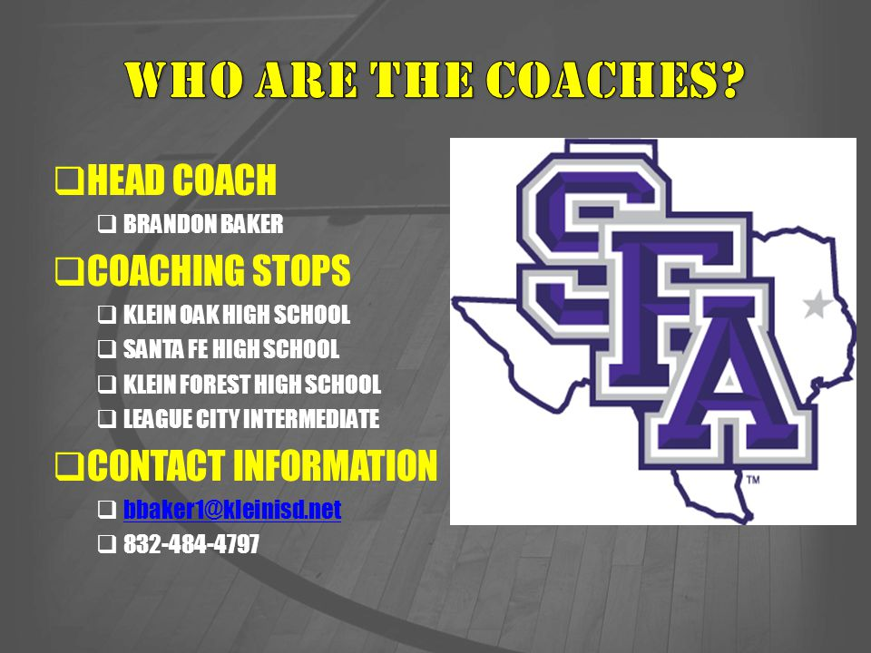 WHO ARE THE COACHES HEAD COACH COACHING STOPS
