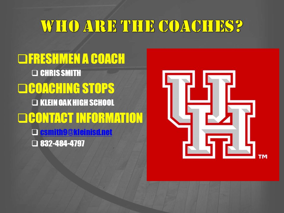 WHO ARE THE COACHES FRESHMEN A COACH COACHING STOPS
