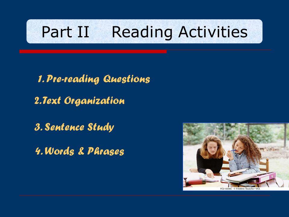 Part II Reading Activities