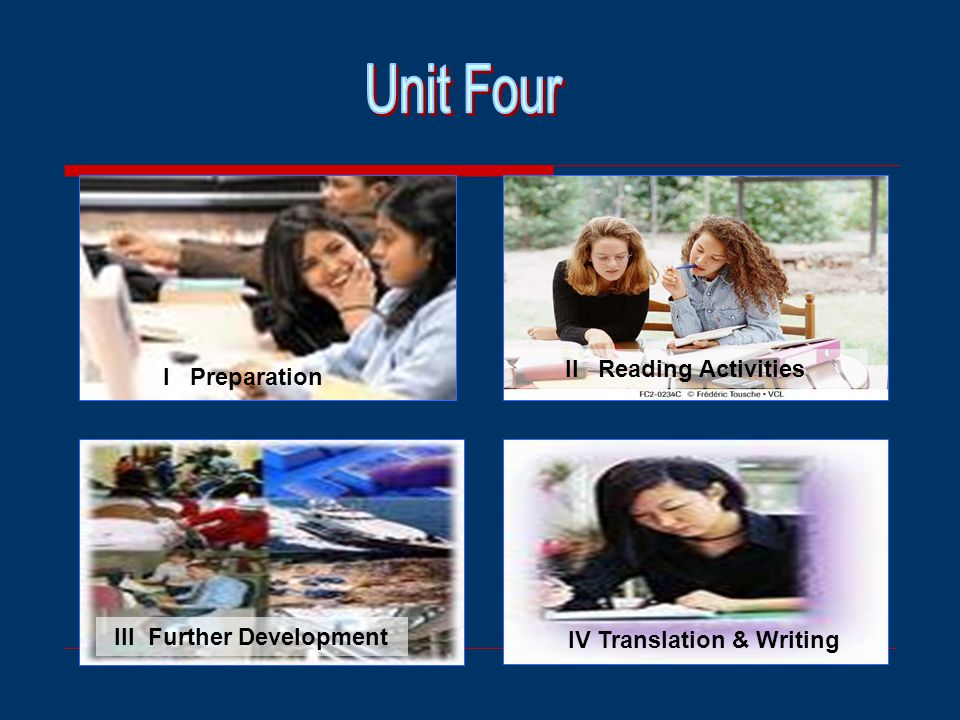 III Further Development IV Translation & Writing