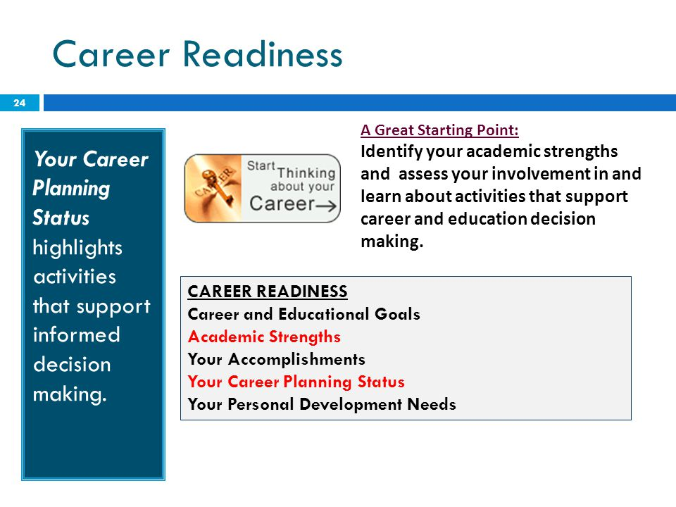 Career Readiness A Great Starting Point: