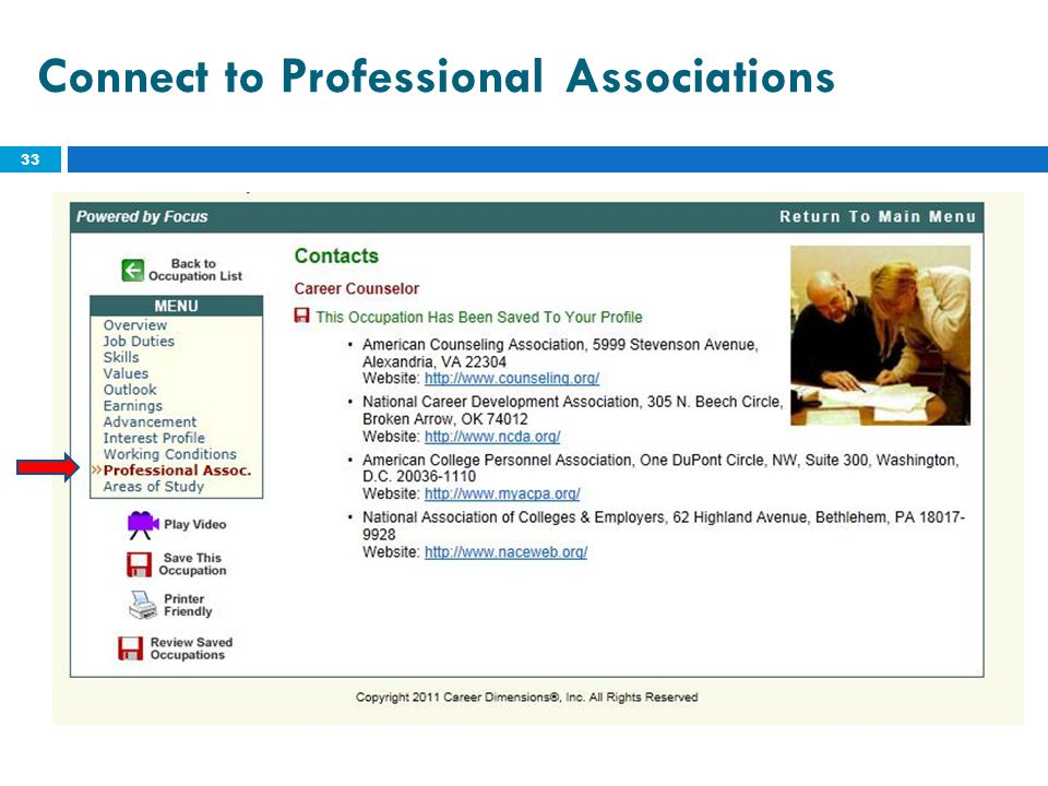 Connect to Professional Associations