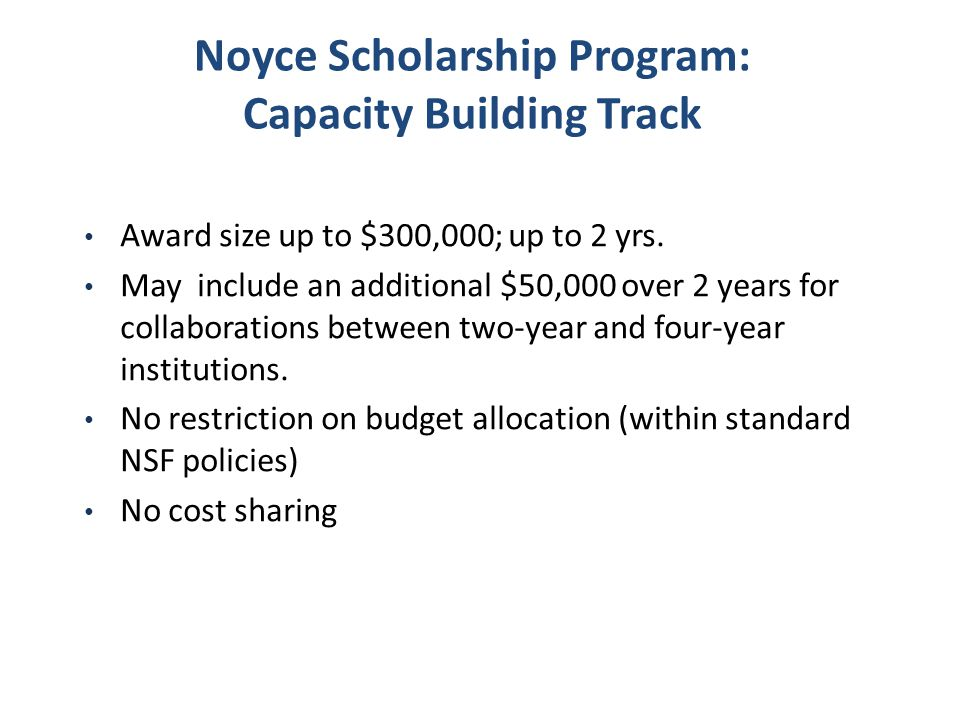 Noyce Scholarship Program: Capacity Building Track