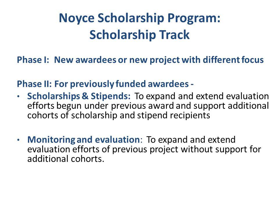 Noyce Scholarship Program: Scholarship Track