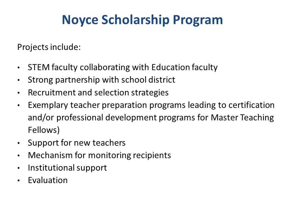 Noyce Scholarship Program