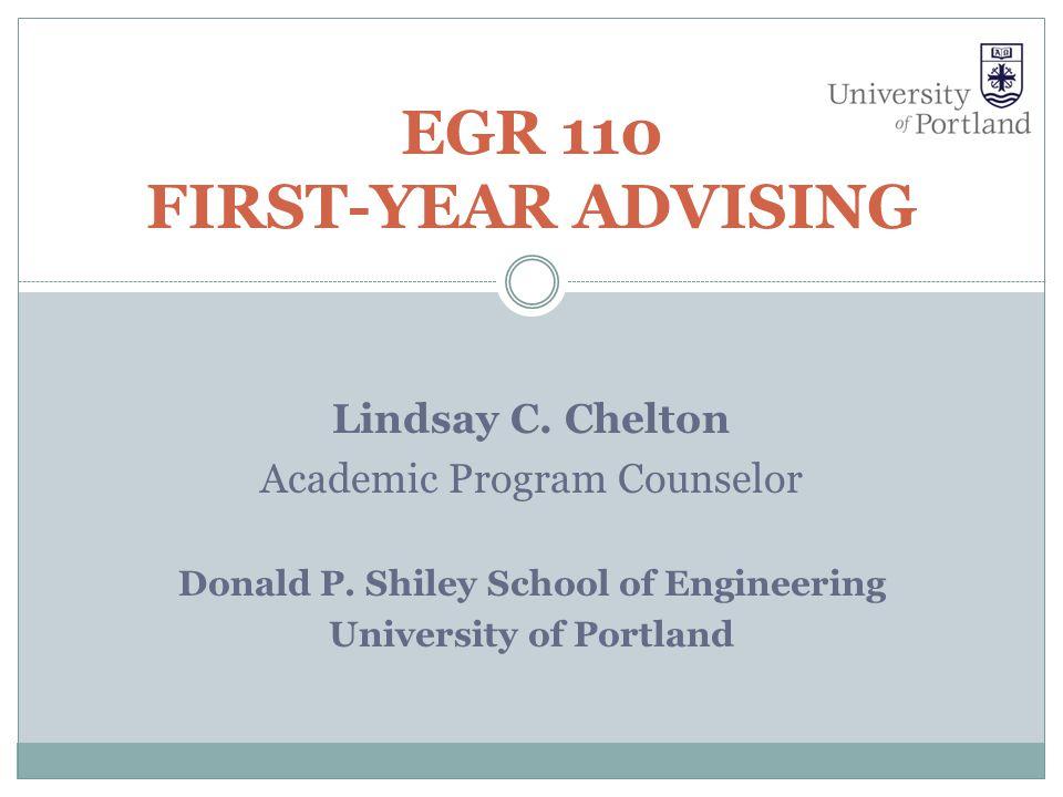 EGR 110 First-Year Advising