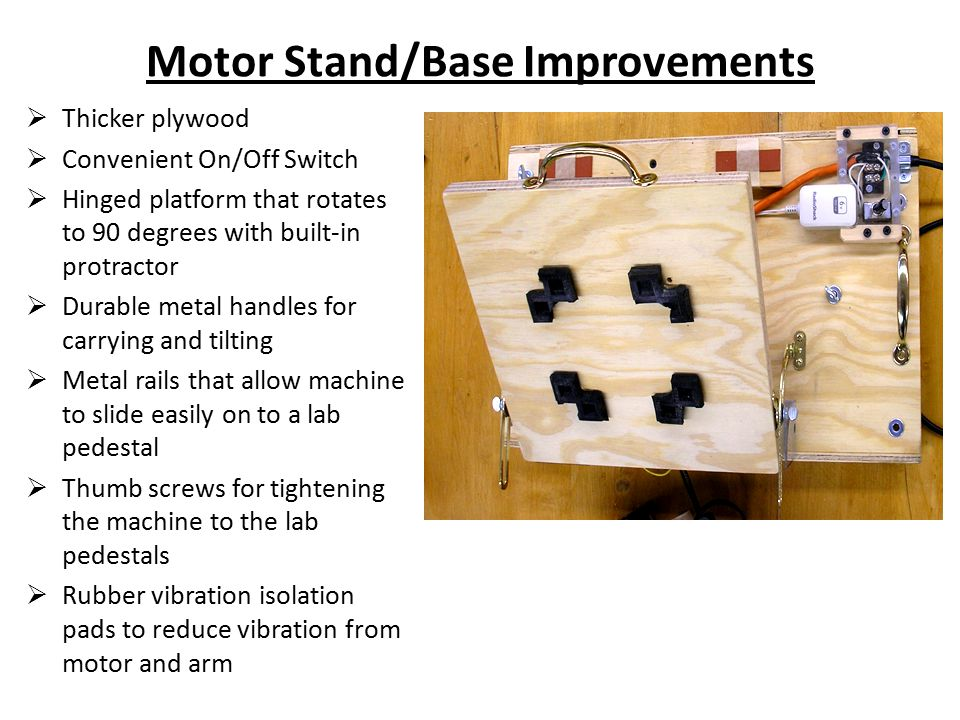 Motor Stand/Base Improvements