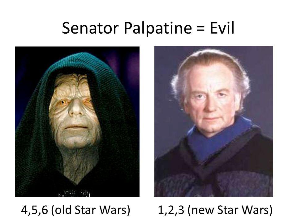 Senator Palpatine = Evil