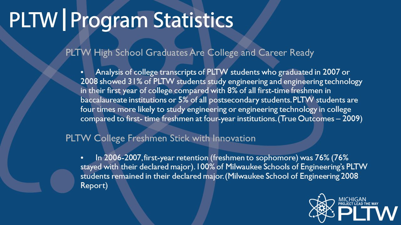 PLTW High School Graduates Are College and Career Ready