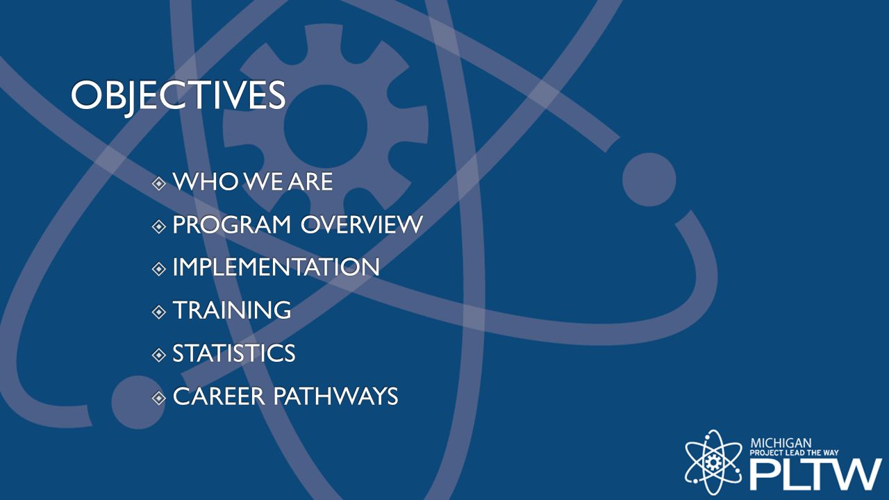 OBJECTIVES WHO WE ARE PROGRAM OVERVIEW IMPLEMENTATION TRAINING