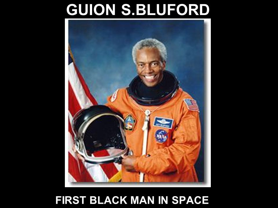 FIRST BLACK MAN IN SPACE