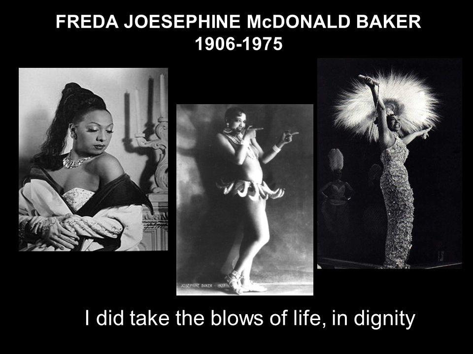 FREDA JOESEPHINE McDONALD BAKER 1906-1975