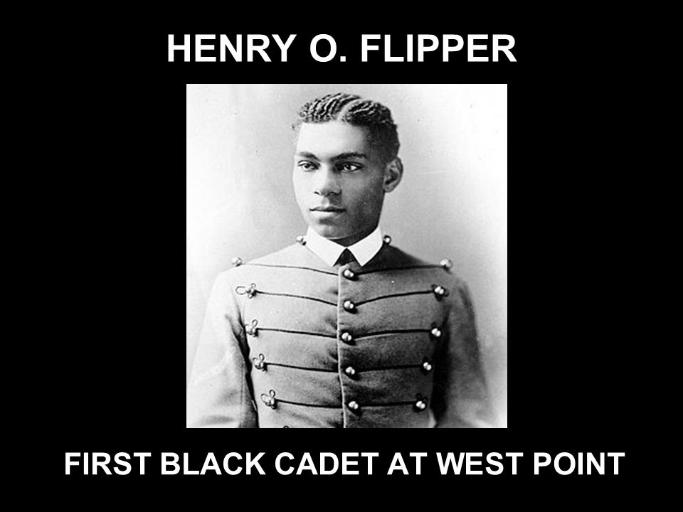 FIRST BLACK CADET AT WEST POINT