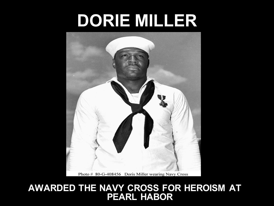 AWARDED THE NAVY CROSS FOR HEROISM AT PEARL HABOR