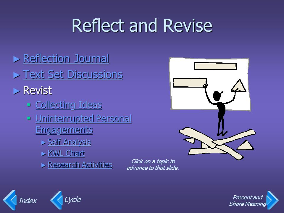 Reflect and Revise Reflection Journal Text Set Discussions Revist