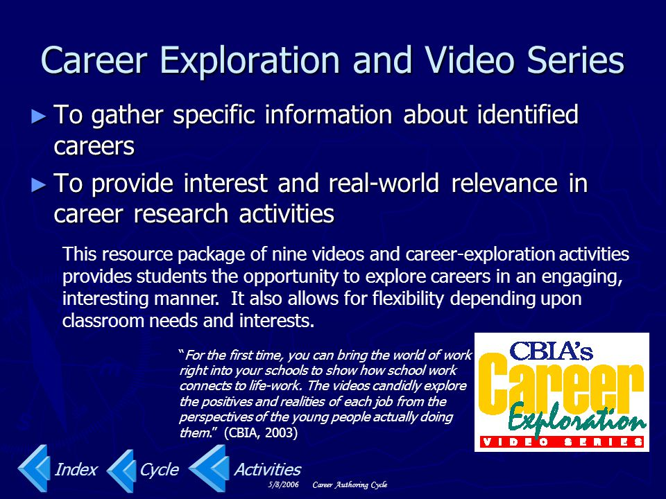 Career Exploration and Video Series