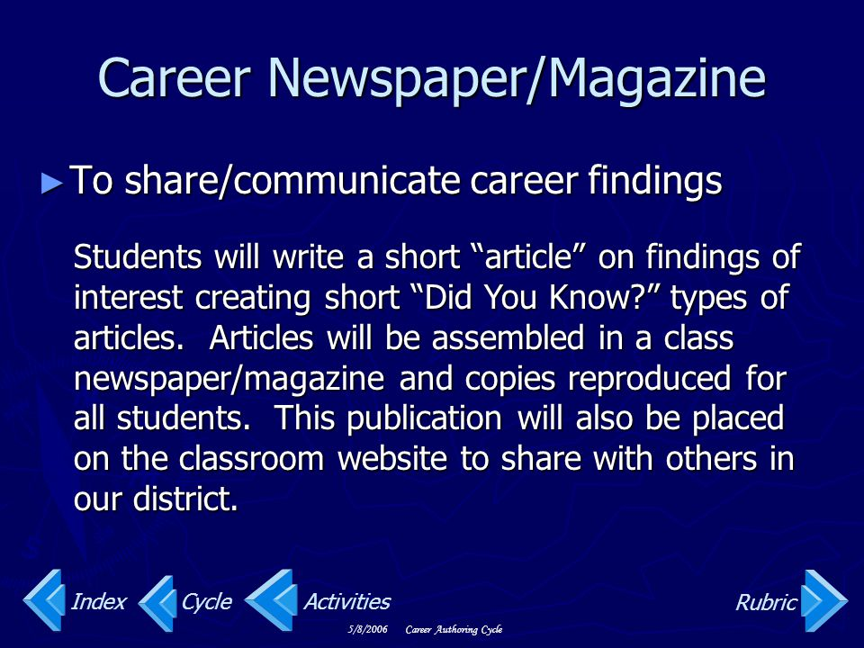 Career Newspaper/Magazine