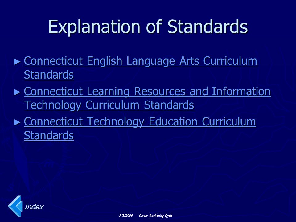Explanation of Standards