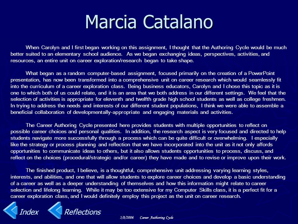 Marcia Catalano Index Reflections