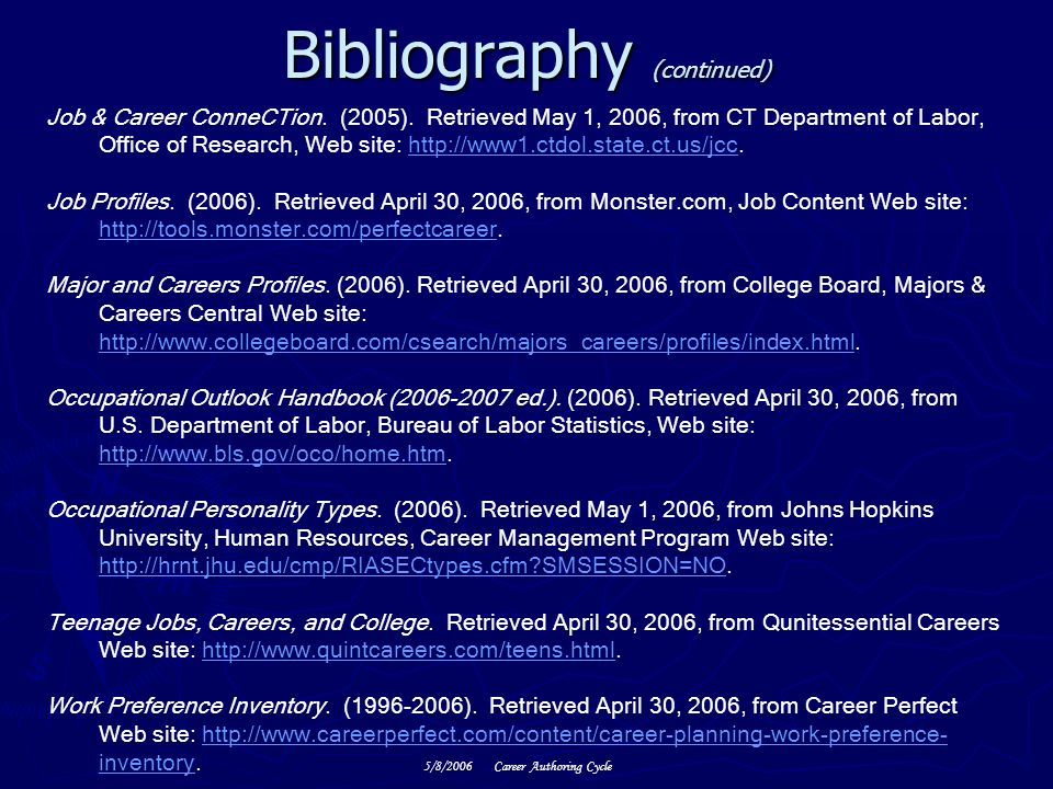 a review of a research project on career and colleges Library media center welcome click here to view the career research project description princeton review online: career click on careers.