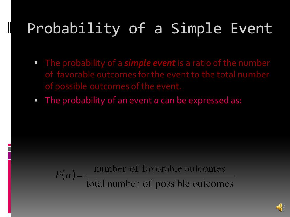 Probability of a Simple Event