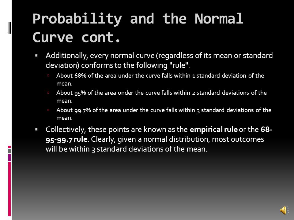 Probability and the Normal Curve cont.
