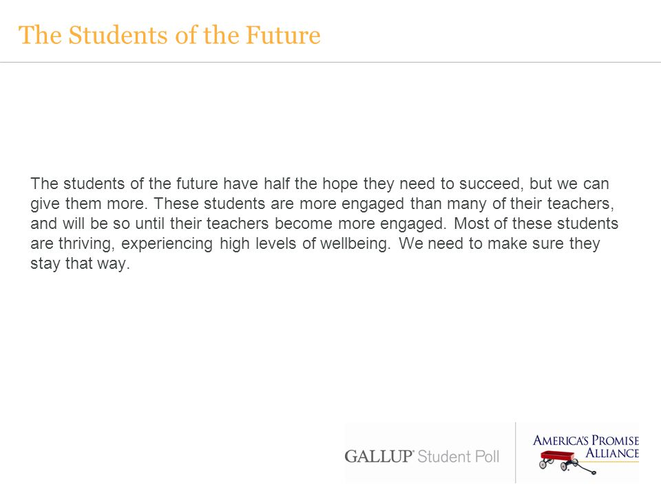 The Students of the Future