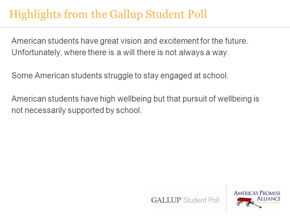 Highlights from the Gallup Student Poll