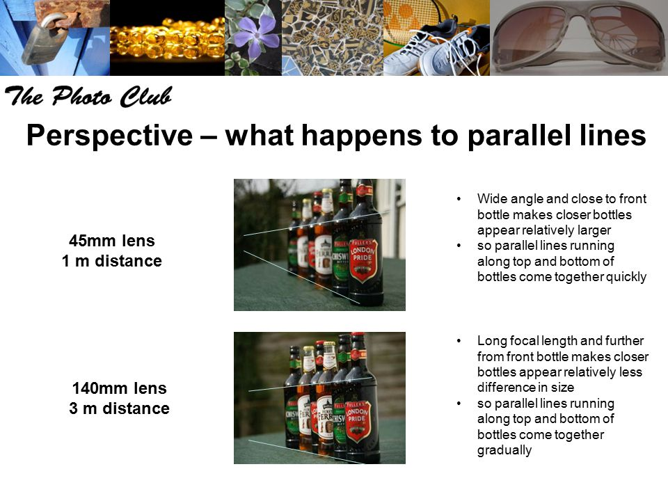 Perspective – what happens to parallel lines