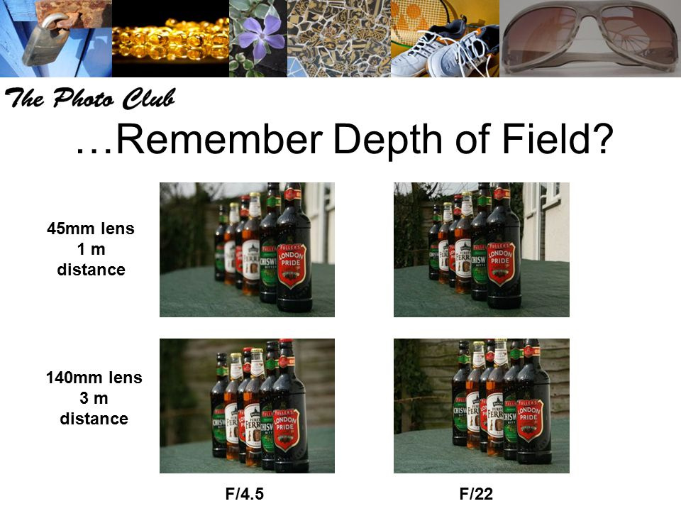 …Remember Depth of Field