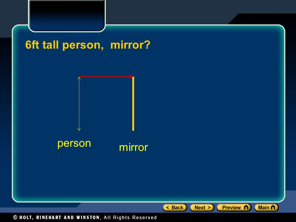 6ft tall person, mirror person mirror