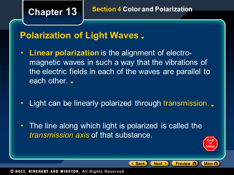 Polarization of Light Waves