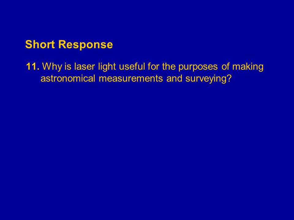 Short Response 11.