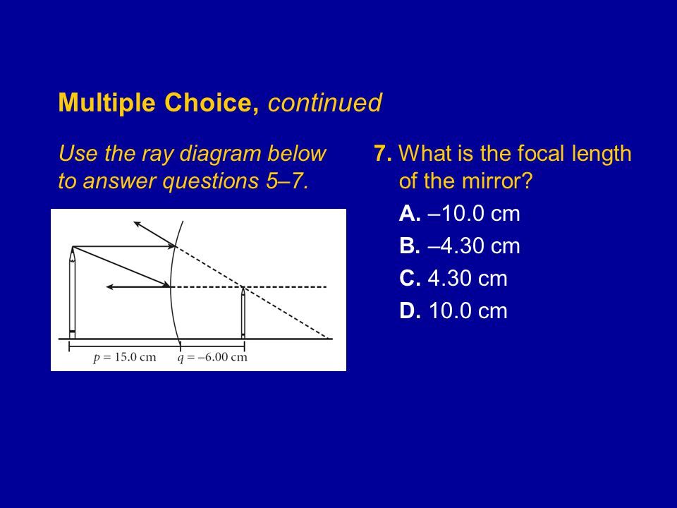 Multiple Choice, continued