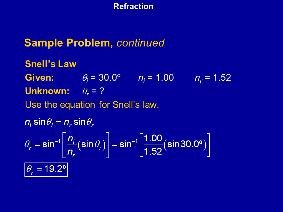 Sample Problem, continued