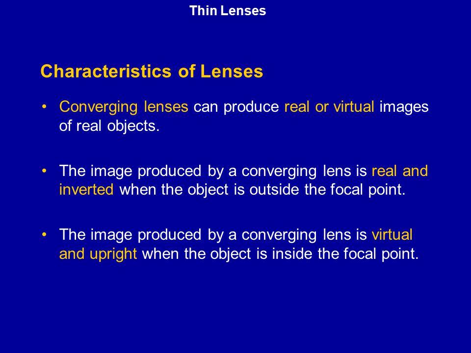 Characteristics of Lenses