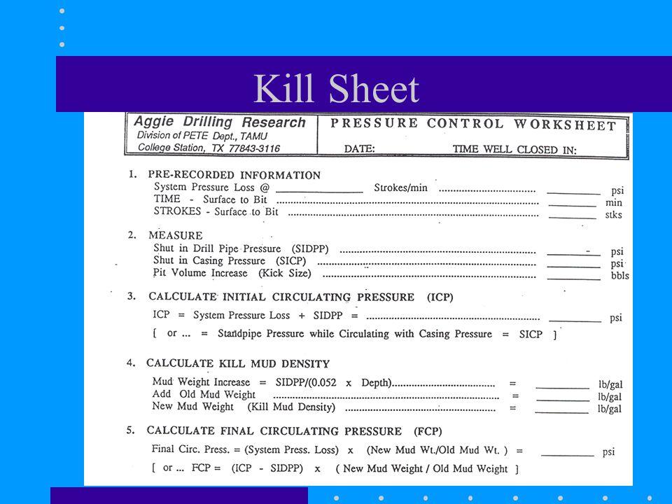 Kill Sheet