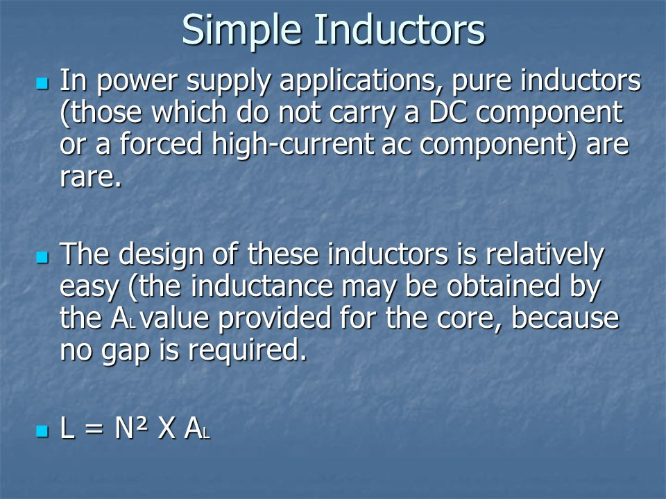 Simple Inductors