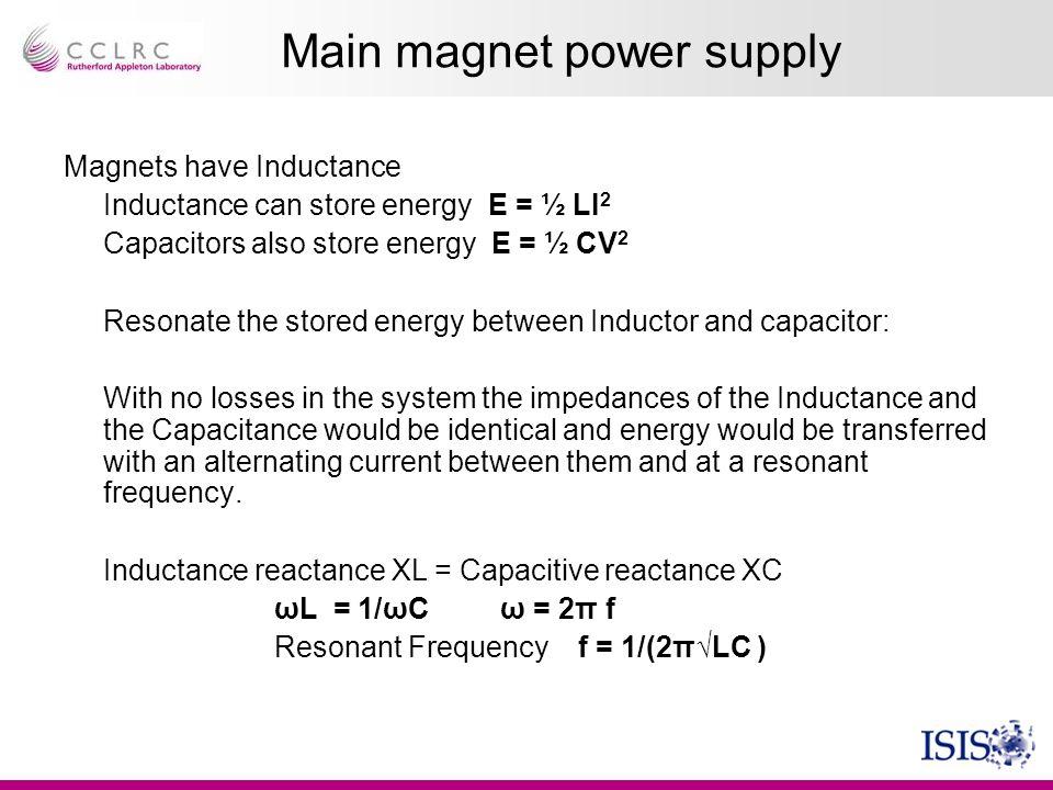 Main magnet power supply