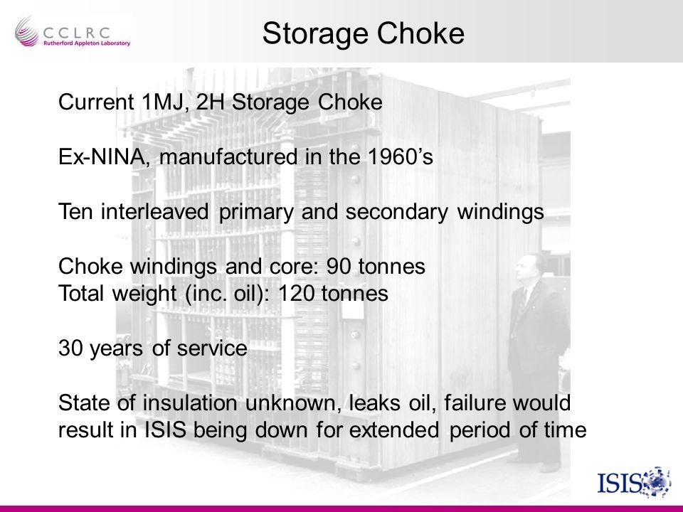 Storage Choke Current 1MJ, 2H Storage Choke