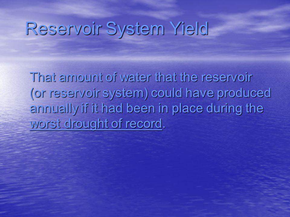 Reservoir System Yield