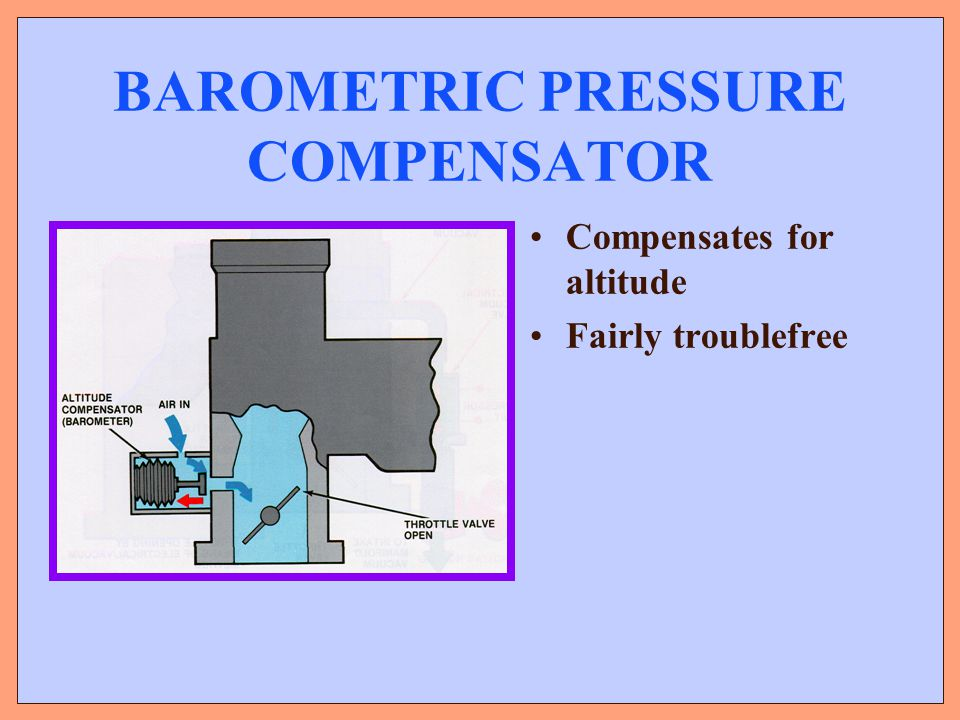 BAROMETRIC PRESSURE COMPENSATOR