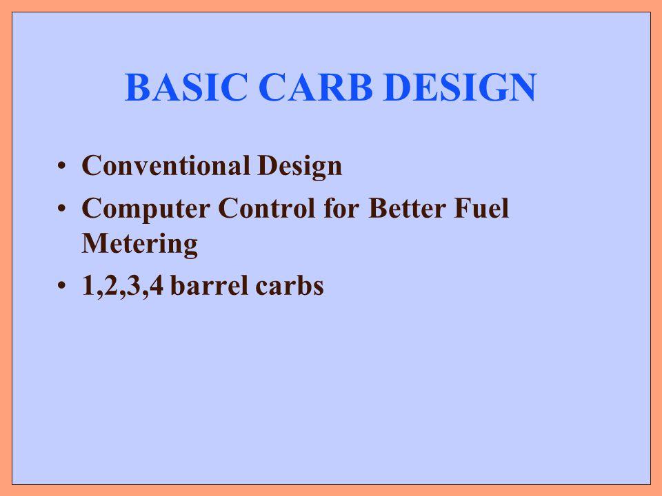 BASIC CARB DESIGN Conventional Design