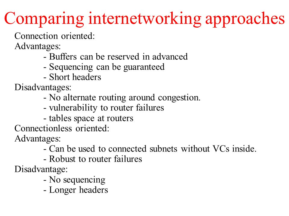 Comparing internetworking approaches