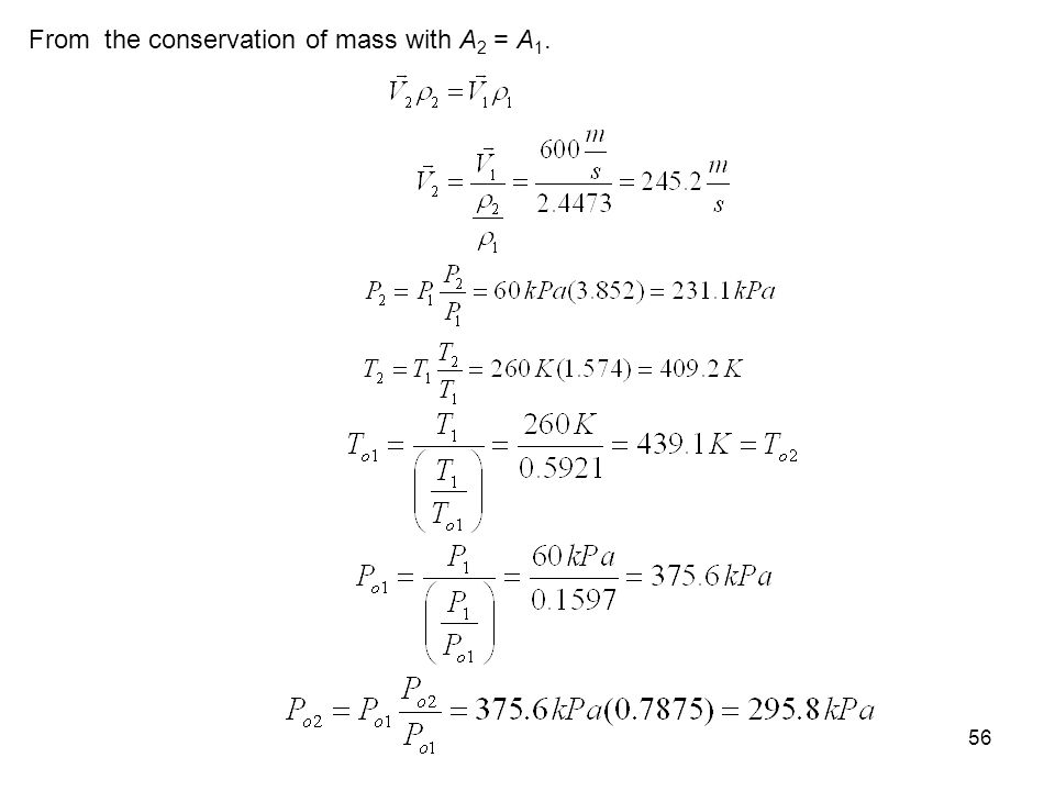 From the conservation of mass with A2 = A1.