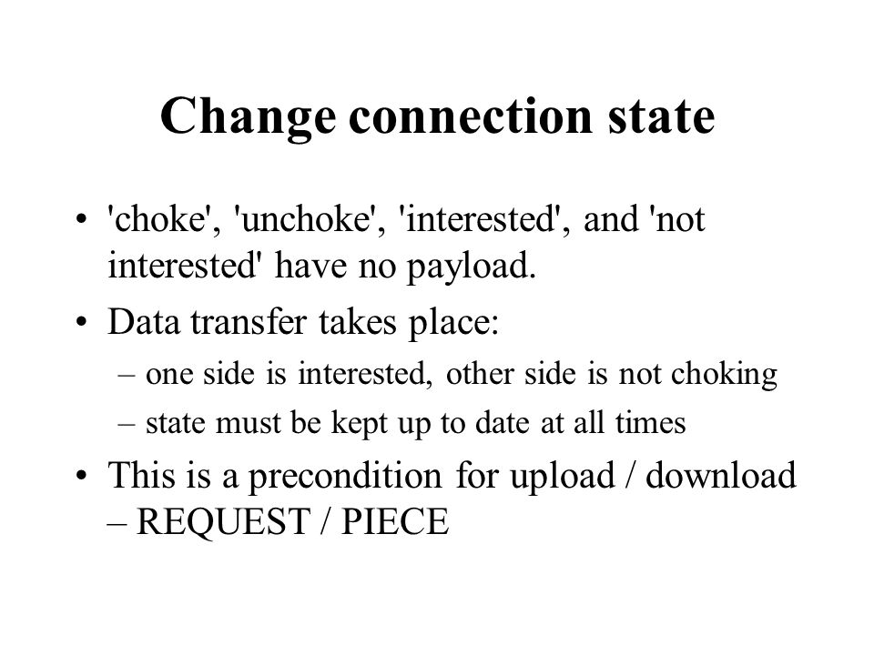 Change connection state